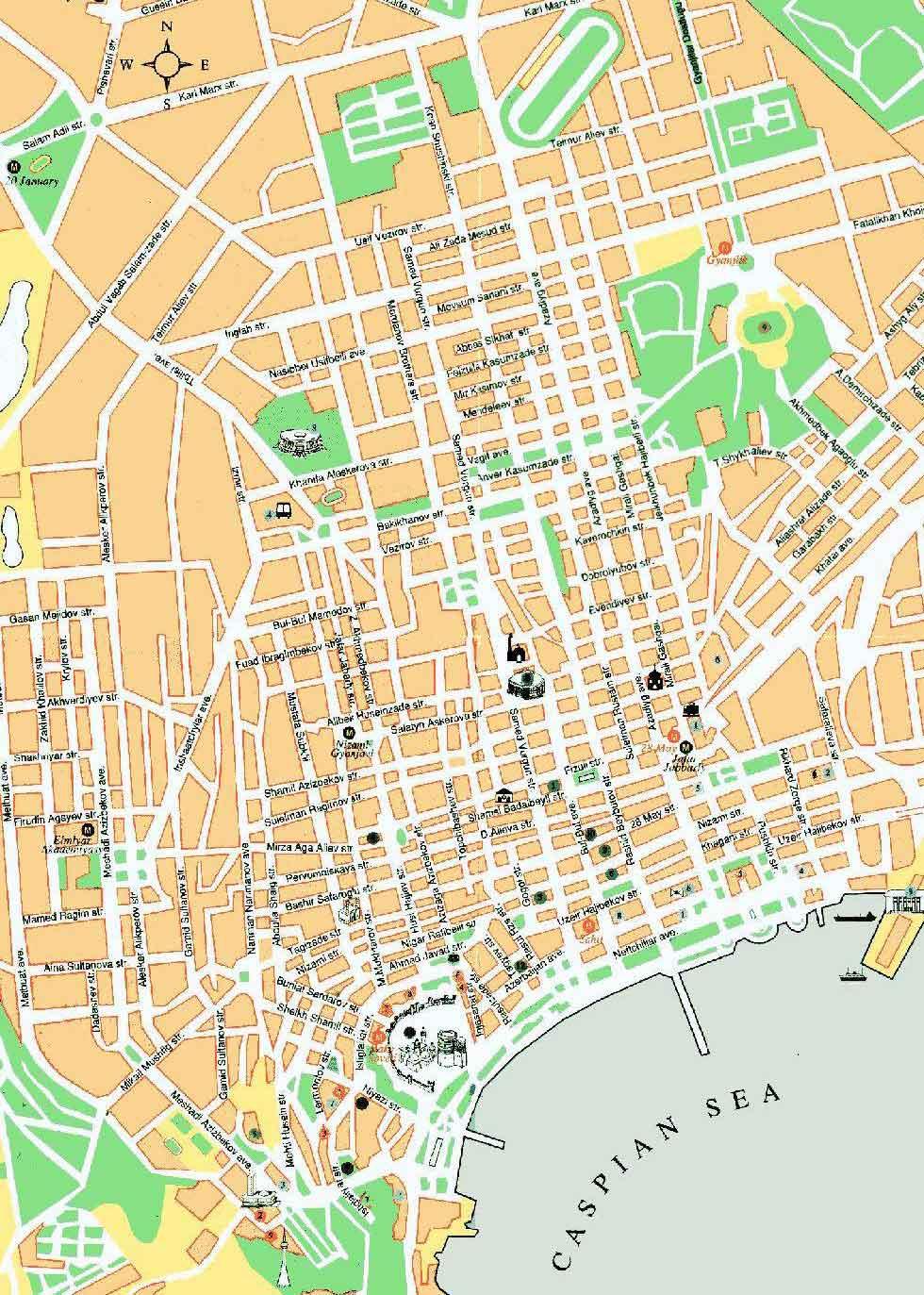 Baku Map | Maps Baku Map